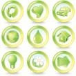ECO icons — Stock Vector #8439129