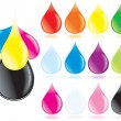 Royalty-Free Stock Vector Image: Rainbow Drops