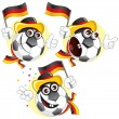 Germany cartoon ball — Stock Vector
