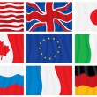 Royalty-Free Stock Vector Image: G8 group flags