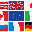 G8 group flags — Stock Vector