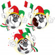 Italian cartoon ball - Image vectorielle
