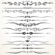 Ornamental Rule Lines in Different Design - Stok Vektr