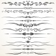 Ornamental Rule Lines in Different Design — Stock Vector