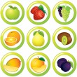 Juicy Labels — Stock Vector