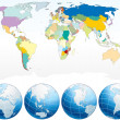 Royalty-Free Stock Imagem Vetorial: Detailed World Map