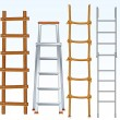 Ladders - Stock Vector