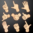 Royalty-Free Stock Imagem Vetorial: Hands Set 2