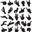 Hand Set - Imagen vectorial