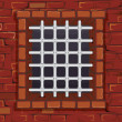 Stock Vector: Prison Window