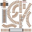 Railroad Elements - Imagen vectorial