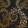Music swirls - Stock Vector