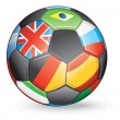 World Football — Stock Vector