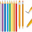 Pencil set - Stock Vector