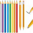 Pencil set — Stock Vector