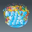 Royalty-Free Stock Vektorfiler: New Year Tag