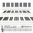 Vector de stock : Piano Notes