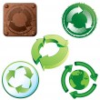 Recycling Symbols - Stock Vector