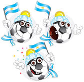 Argentinian cartoon ball — Stock Vector