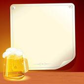 Beer Poster — Stock Vector