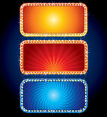 Brightly Neon Signs — Stock Vector