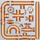 Brass Pipeline — Stock Vector