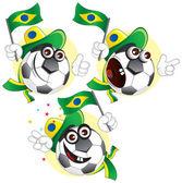 Brazilian cartoon ball — Stock Vector
