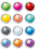 Multicolored vector buttons — Stock Vector