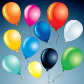 Bright Balloons — Stock Vector