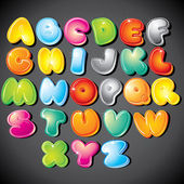Alfabeto de dibujos animados — Vector de stock