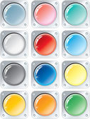 Multicolored Buttons — Stock Vector