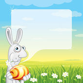 Easter Bunny Speech — Stock Vector