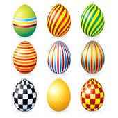 Decorative Eggs — Stock Vector