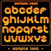 Cute Neon Font — Stock Vector