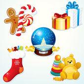 Christmas Gift Set — Stock Vector