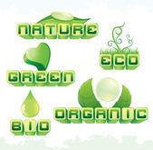 Eco Signs — Stock Vector
