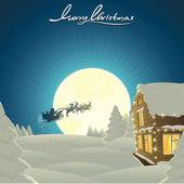 Klasické vánoční karta — Stock vektor