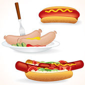 Freshenes Hot Dog — Stock Vector