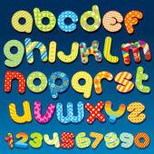 Funky lettertype — Stockvector