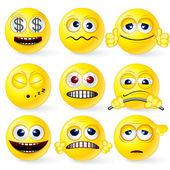 Funky Smilies 1 — Stock Vector