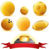 Gold Balls — Stock Vector