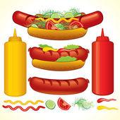 Fast Hotdog — Stock Vector