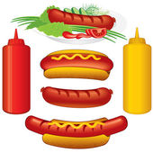 Set di hot dog — Vettoriale Stock