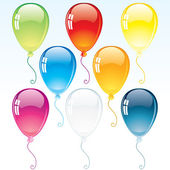 Glossy Decoration Balloons — Stock Vector