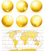 Golden Globes — Stock Vector