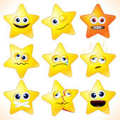 Funny Stars — Stock Vector