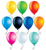 Globos de colores — Vector de stock