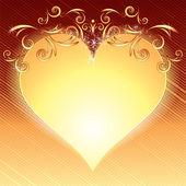 Złote serce — Wektor stockowy