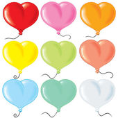 Heart shaped balloonrs — Stock Vector