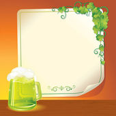 Green Ale — Stock Vector